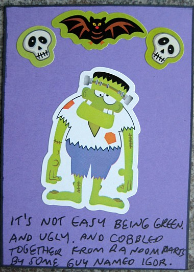 frankenstein sticker atc