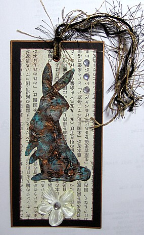metal rabbit bookmark