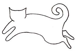 blank cat design
