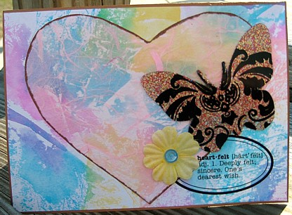 butterfly heart card
