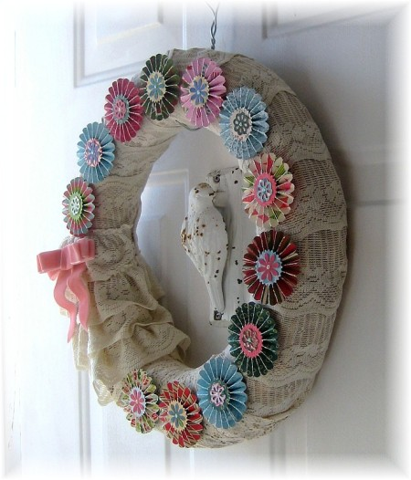 rosette wreath side