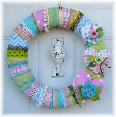 flannel wreath 1