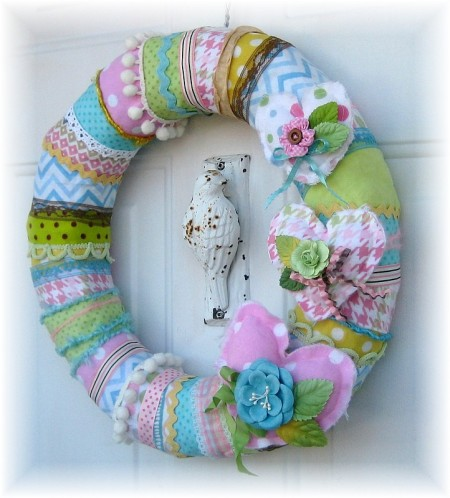 flannel wreath 2
