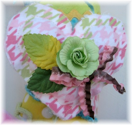 flannel wreath medium heart