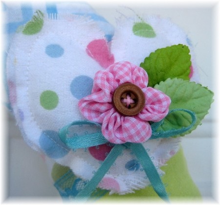 flannel wreath small heart