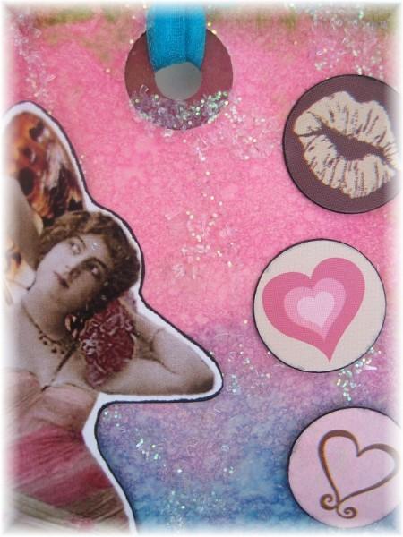 valentine tag closeup