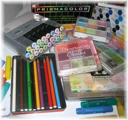 art supplies left