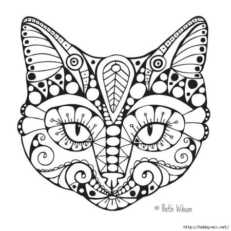 intricate cat face