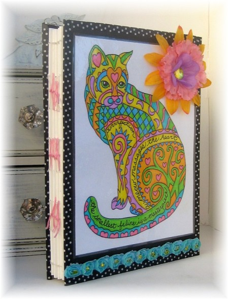 coloring cat art journal 1