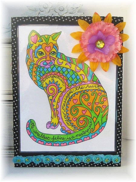 coloring cat art journal 2